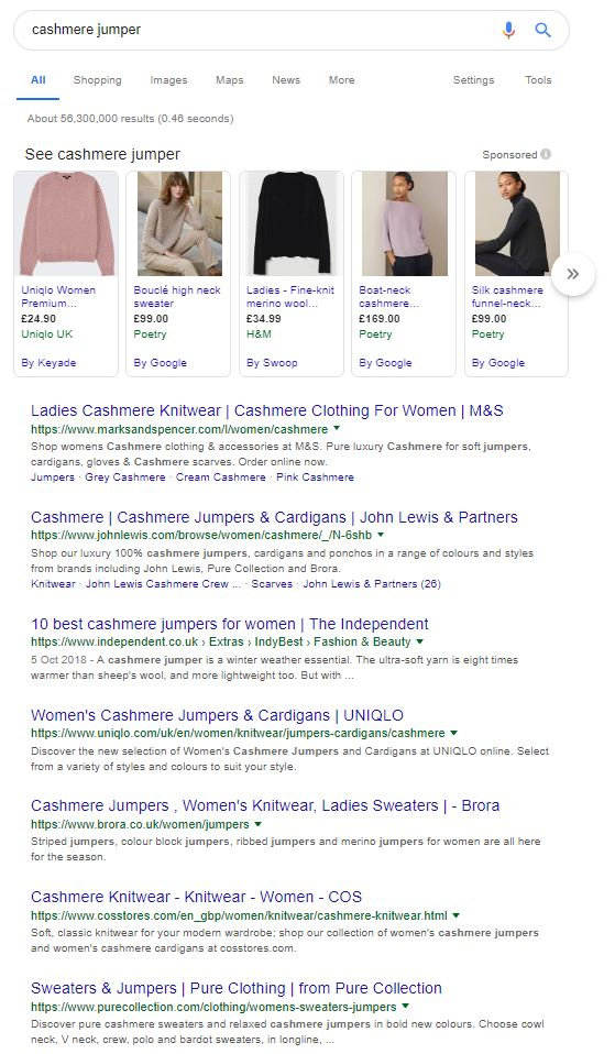 Keyword research cashmere jumper.JPG