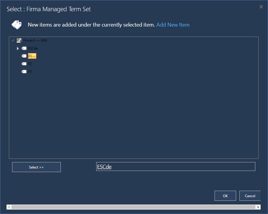 Abbildung 5: Das Managed Term Set kann hier durch die Benutzer erweitert werden