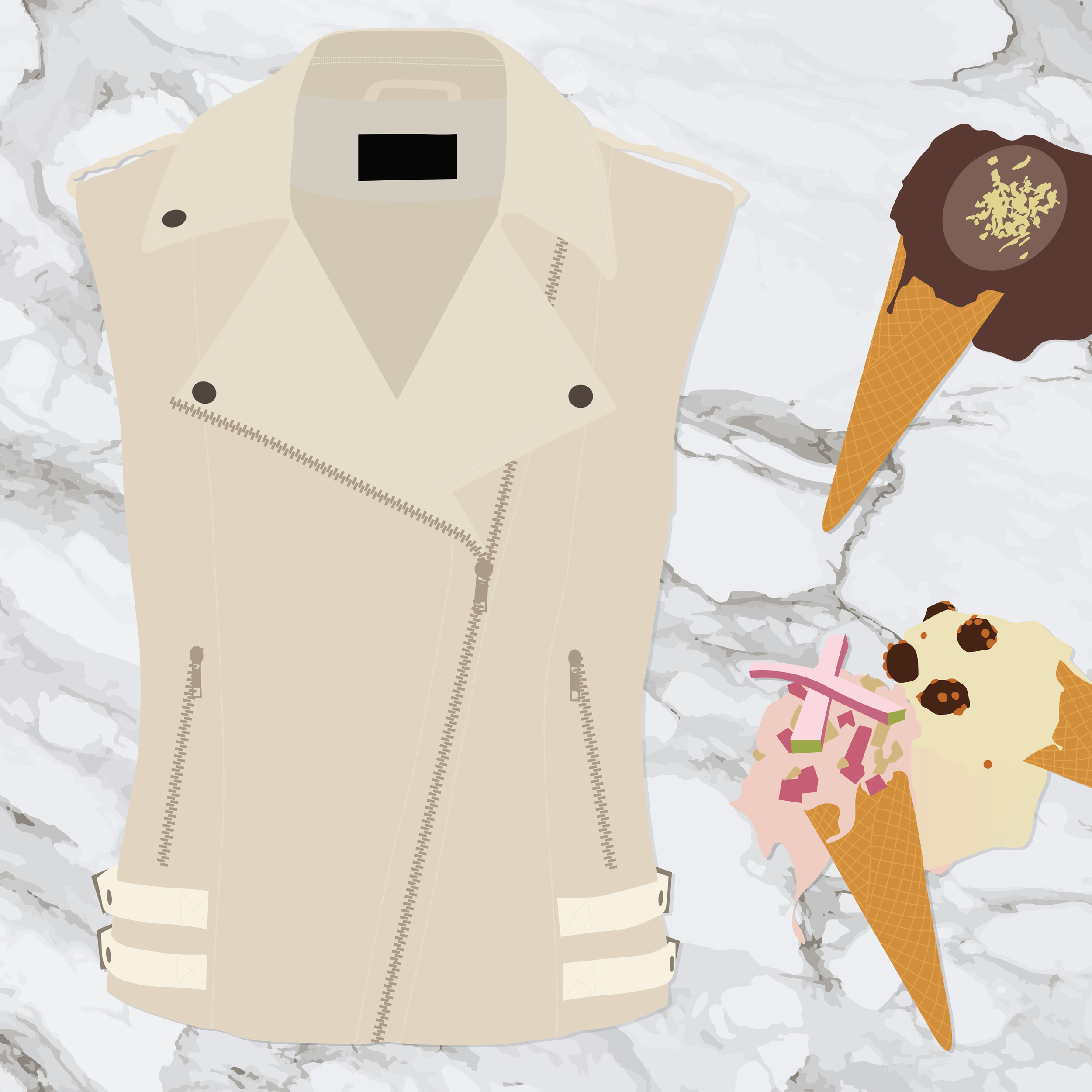 Vest: H&M Rock 'n' Roll Mansion, Ice Cream: Giappo