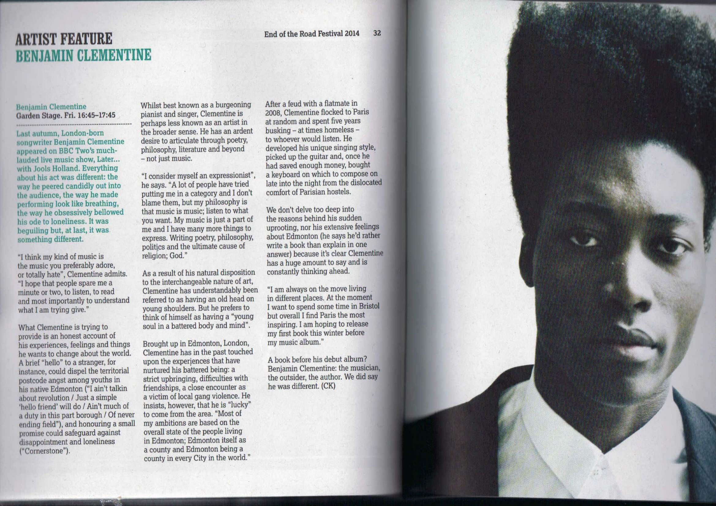 Interview_Benjamin Clementine_End of the Road 2014 festival programme-1.jpg