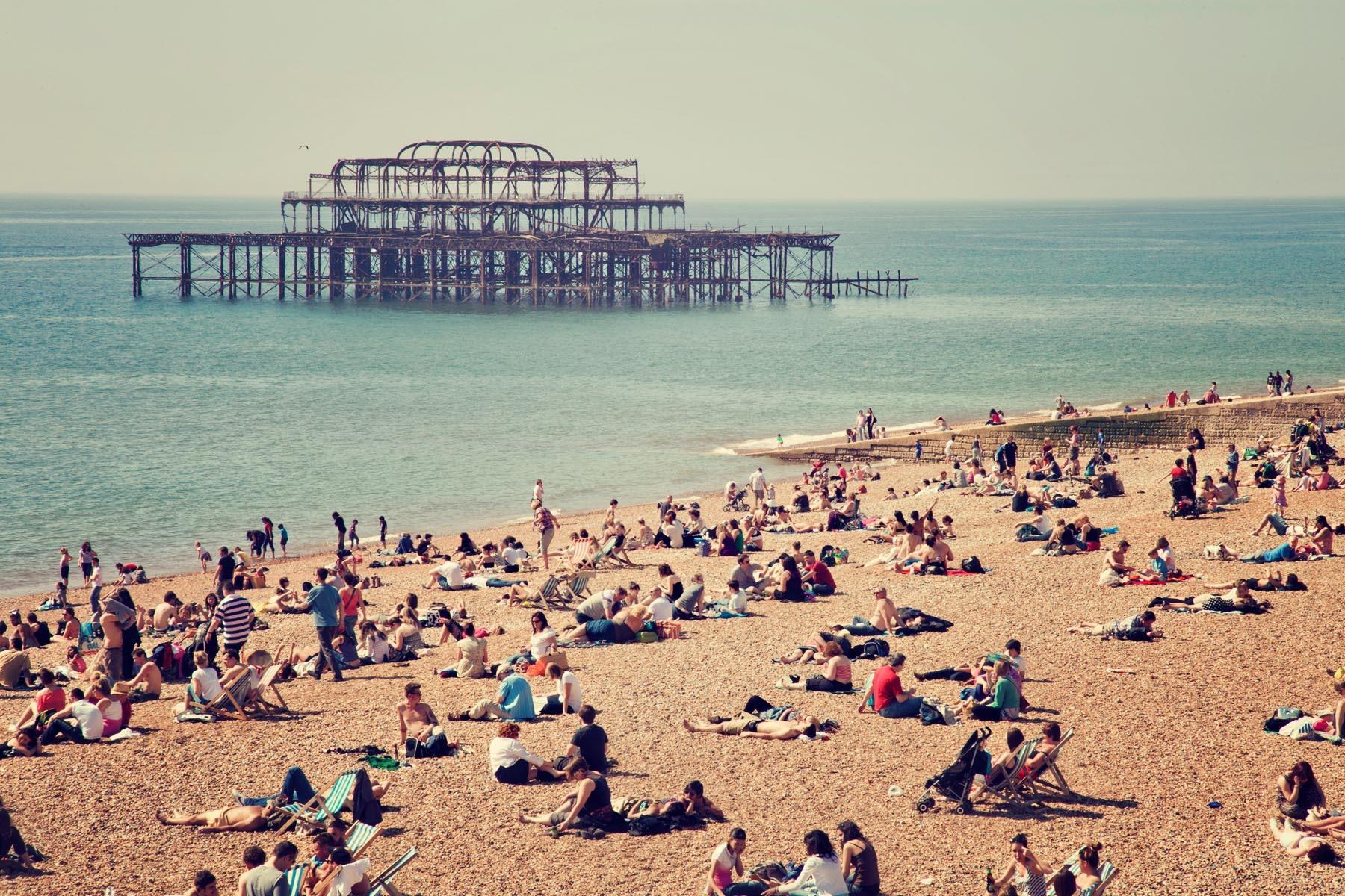 West Pier, Brighton, East Sussex, England