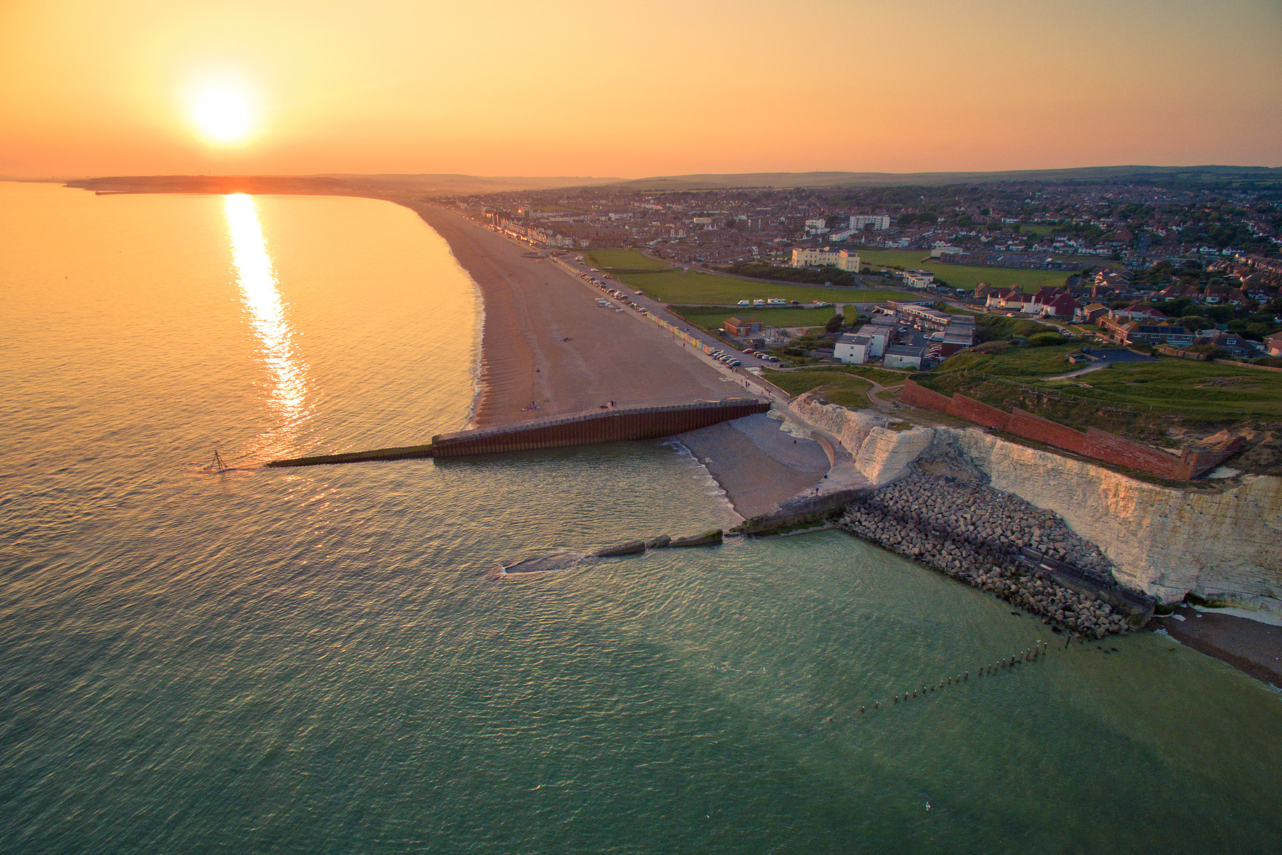 Sunset over Seaford, East Sussex