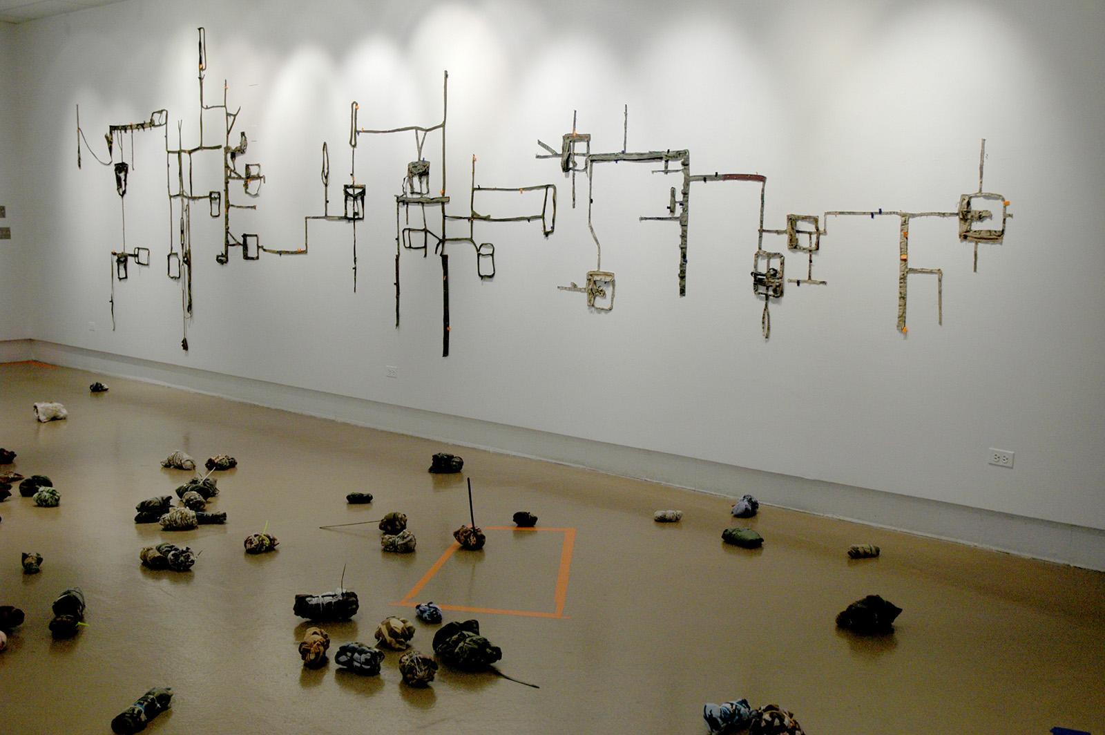 Stealth: installation view, Northeastern Illinois University 2007
