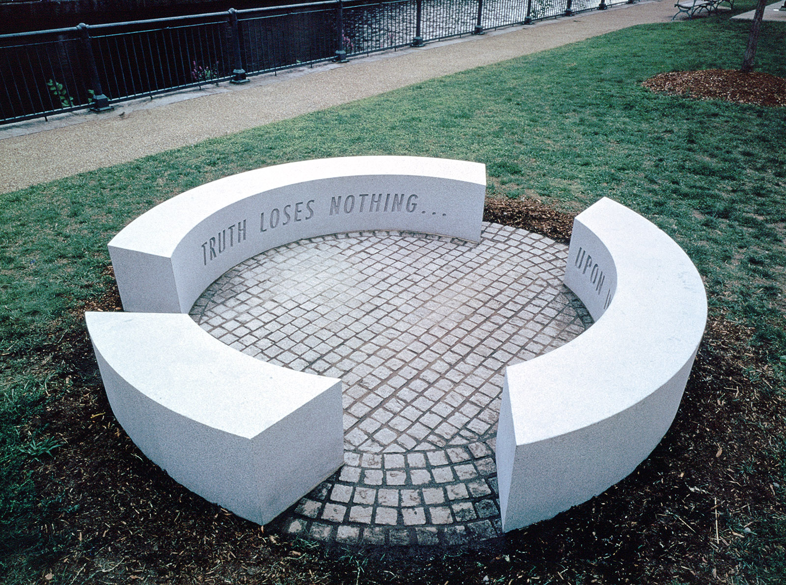 Seating Circle Truth Loses Nothing Upon Investigation, installation view 1997, Photo: B.T. Martin