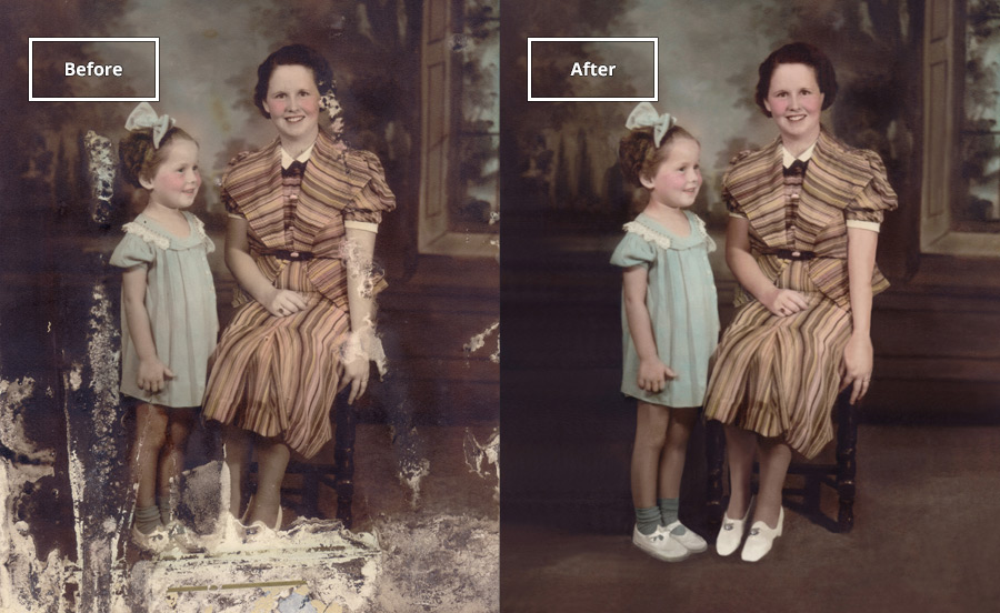 Water and Fire Damage  - Photo damaged in a flood or fire? Send it to us to return it back to pristine.