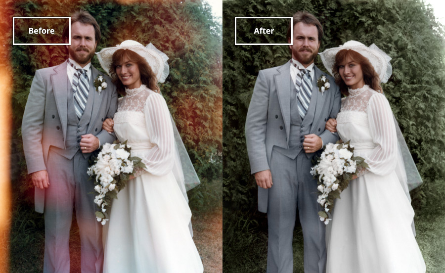 Sun and Fading Damages Repaired  - Fix faded and sun-damaged spots to your favorite pictures.