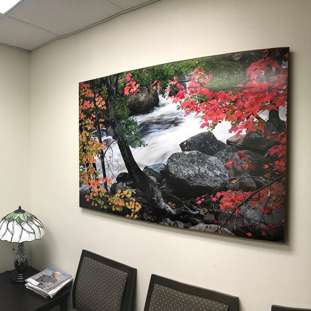 So pleased to add more scenes of comfort to the waiting area of the @mvhealthsystem Regional Cancer Center.
