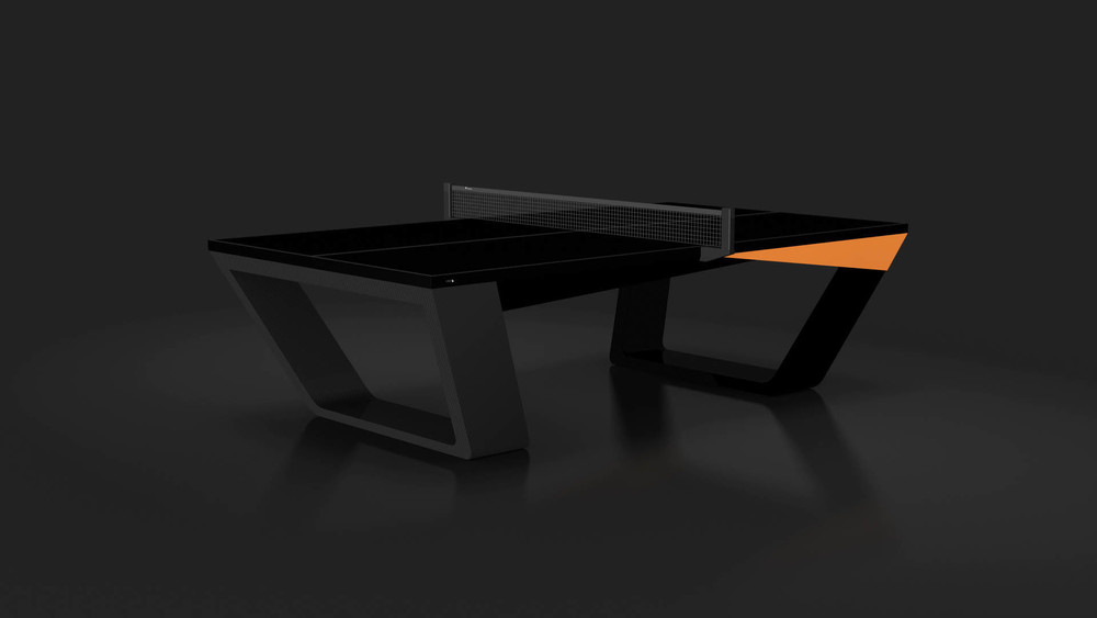 Avettore Table Tennis Table in Black with Orange Accents
