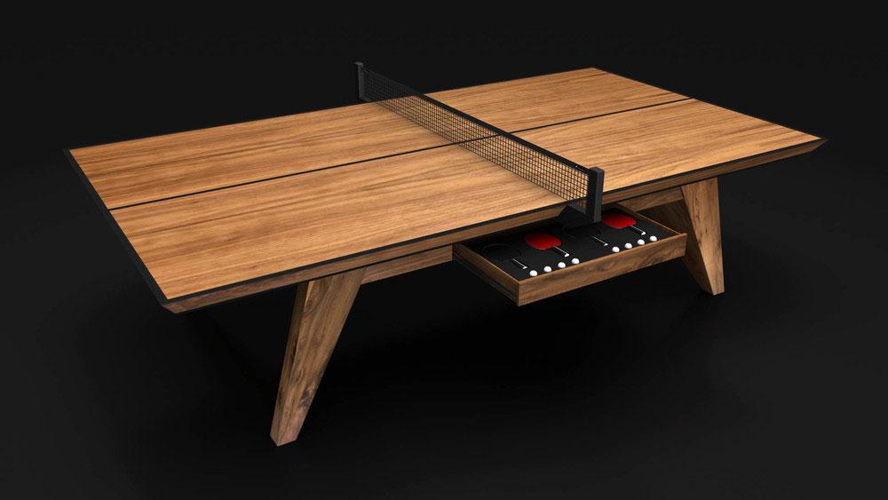 Trigon Table Tennis Table in Walnut
