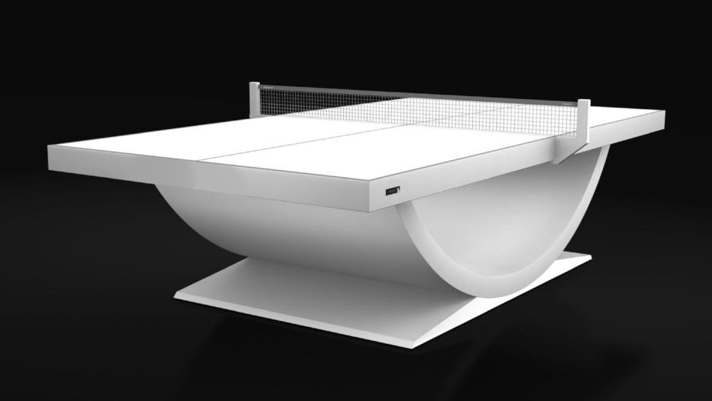 Theseus Table Tennis Table in White