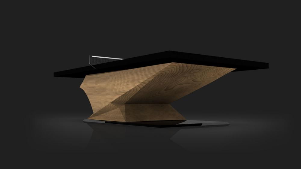 Raven Table Tennis Table in Teak
