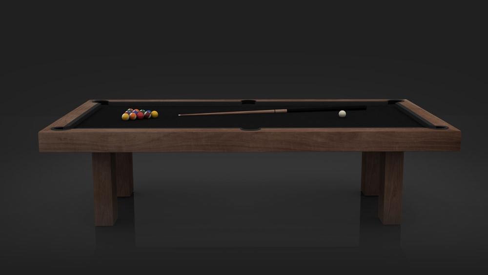 Malibu Billiards Table in Stained Walnut