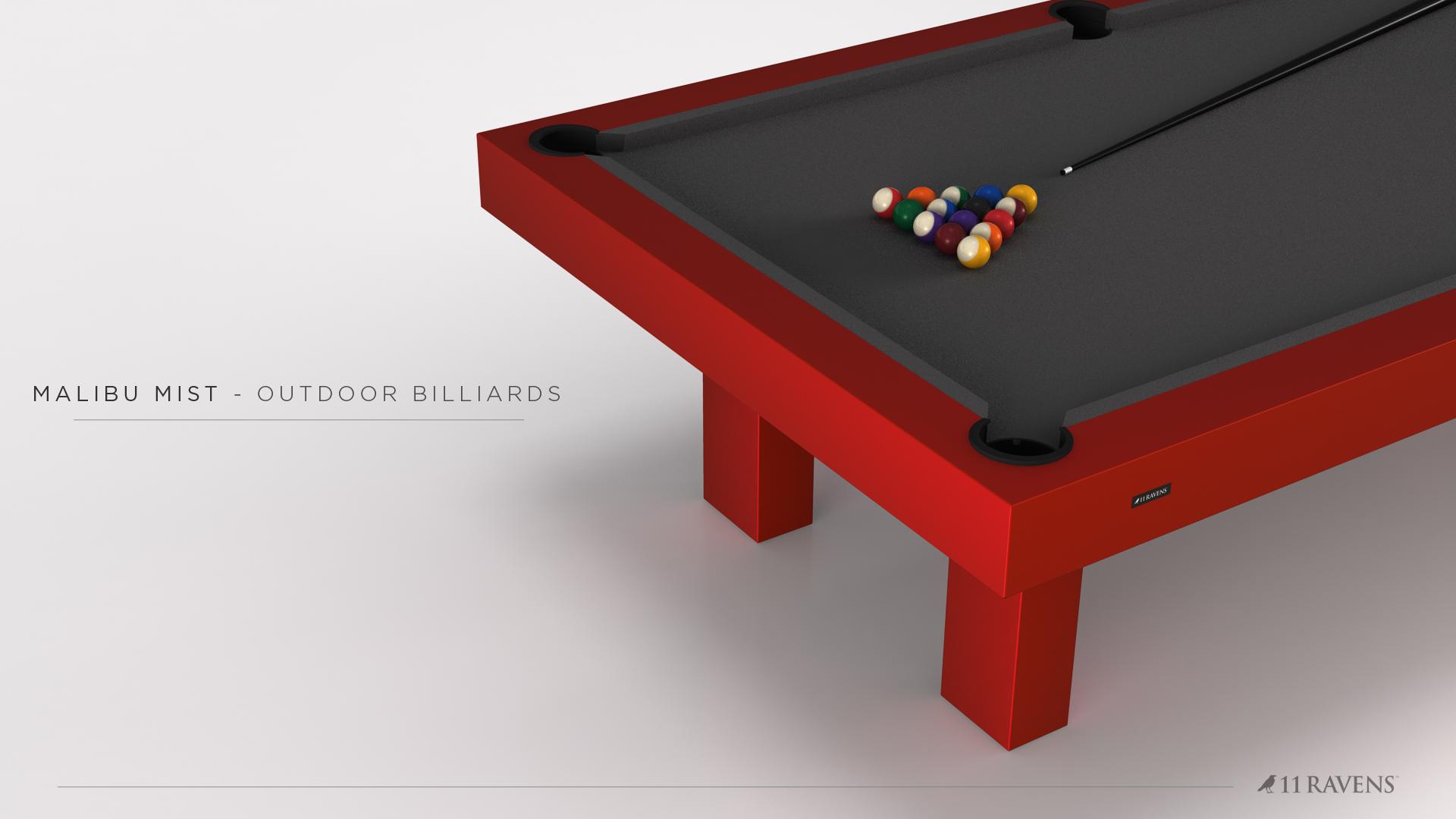 Malibu Billiards Table in Red