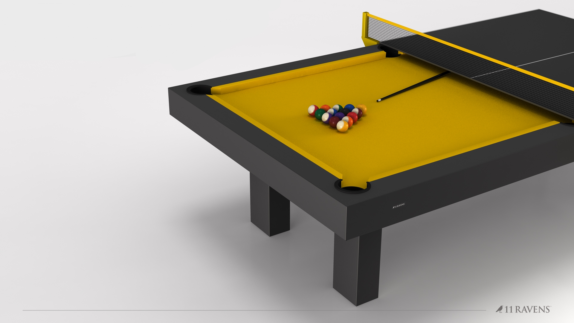 Malibu Billiards Table with Table Tennis and Dining Conversion