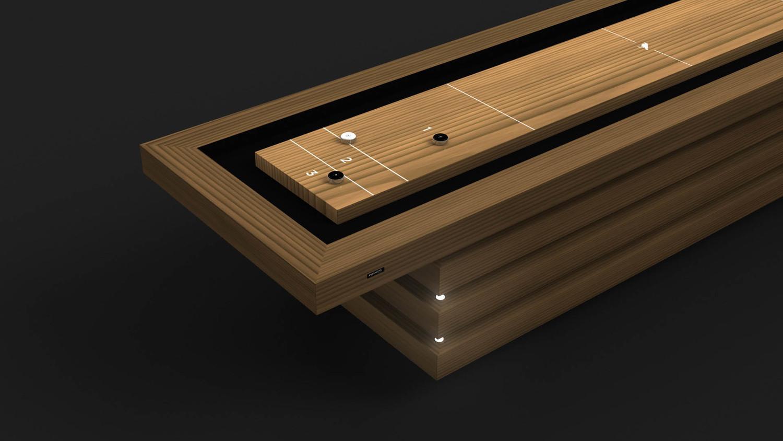 Arcligh Shuffleboard Table in Teak