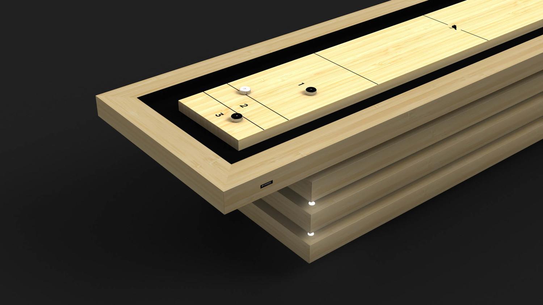 Arclight Shuffleboard Table in Bamboo