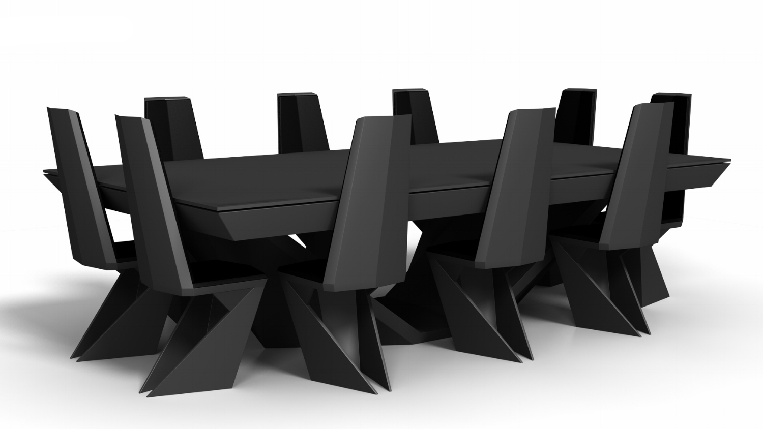 Stealth Billiards Table with Chairs