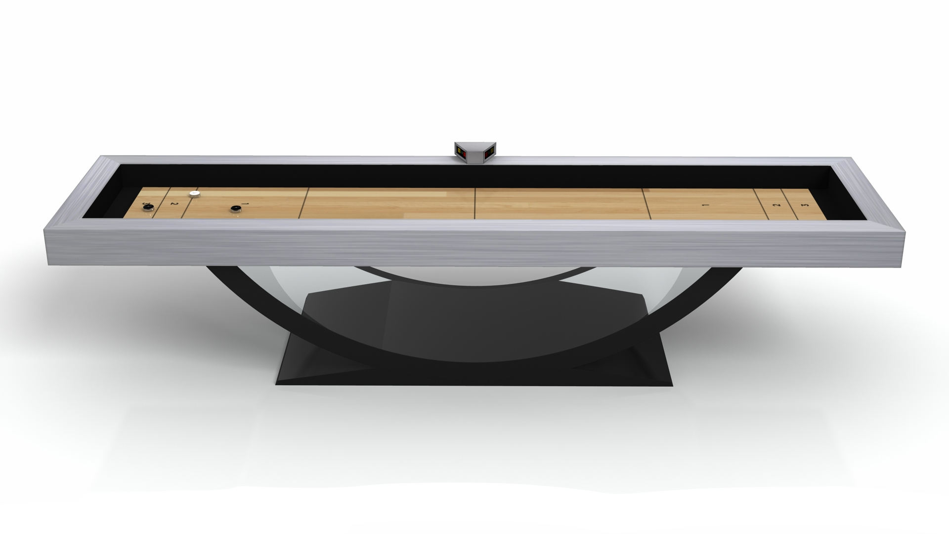 Theseus Shuffleboard in Acrylic and Brushed Aluminum