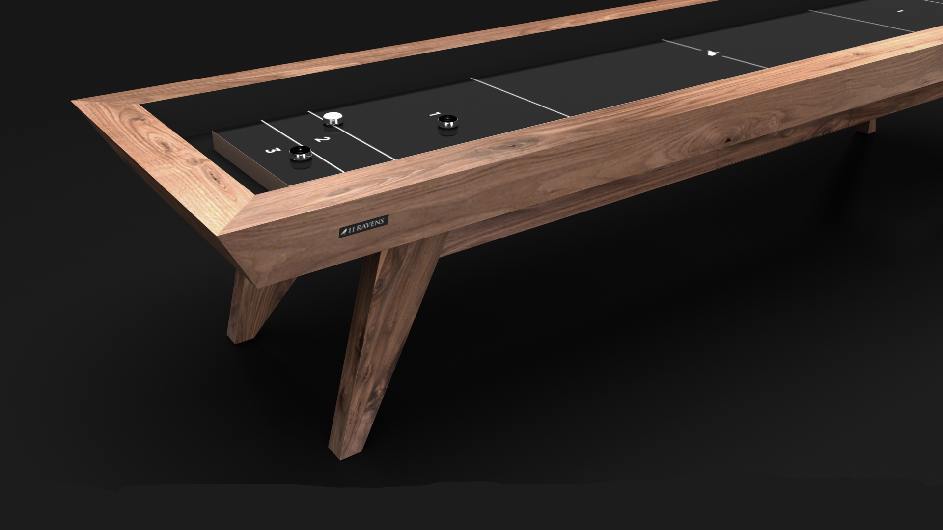 Trigon Shuffleboard in Walnut