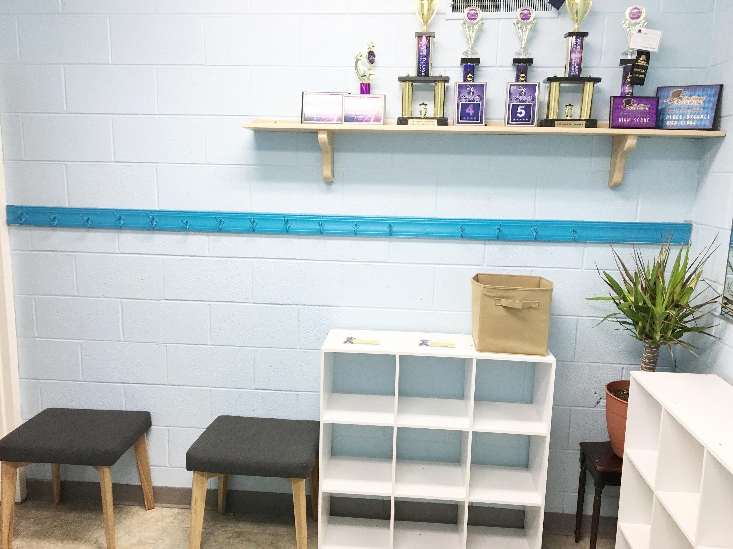 Kids Dressing Room in Dance Studio