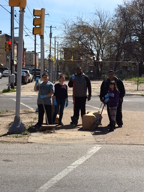Naida  Burgos - small triangle cleaning 2 spring clean up 2016.JPG