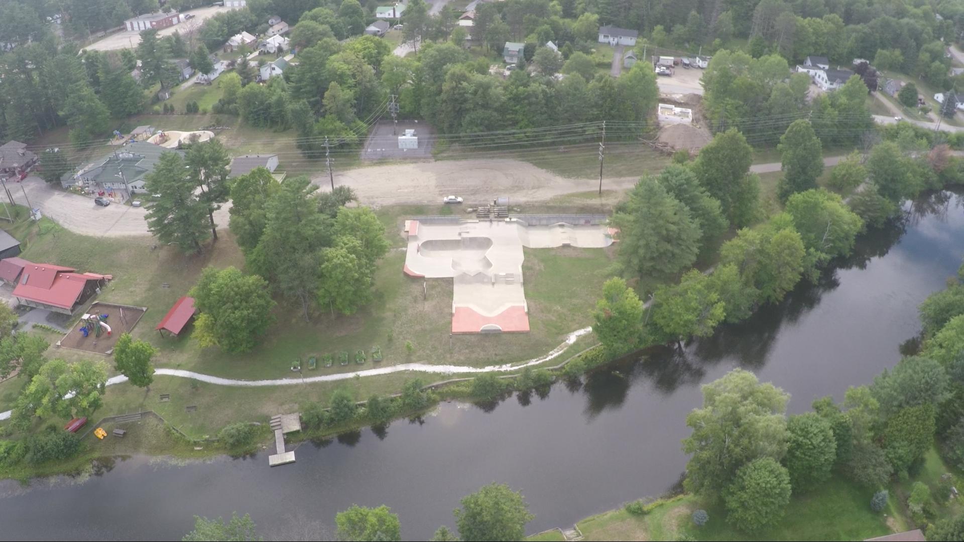The Freedom Skate Park in Bancroft Ontario.