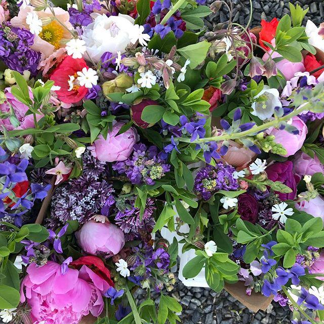 Market bouquets all pillowy and pretty, see you soon Camden. #camdenfarmersmarket