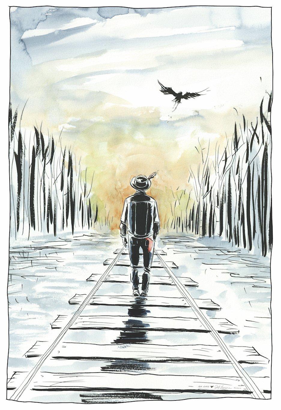 Gord Downie by  Jeff Lemire