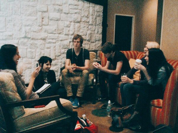 Interviewing  Eisley  during SXSW 2010. Photo by Marlee Henderson.