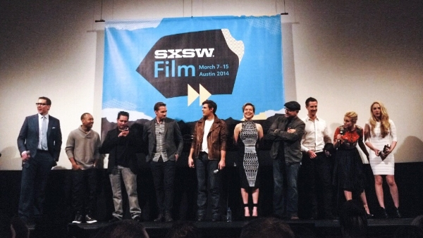 The director and cast of Veronica Mars