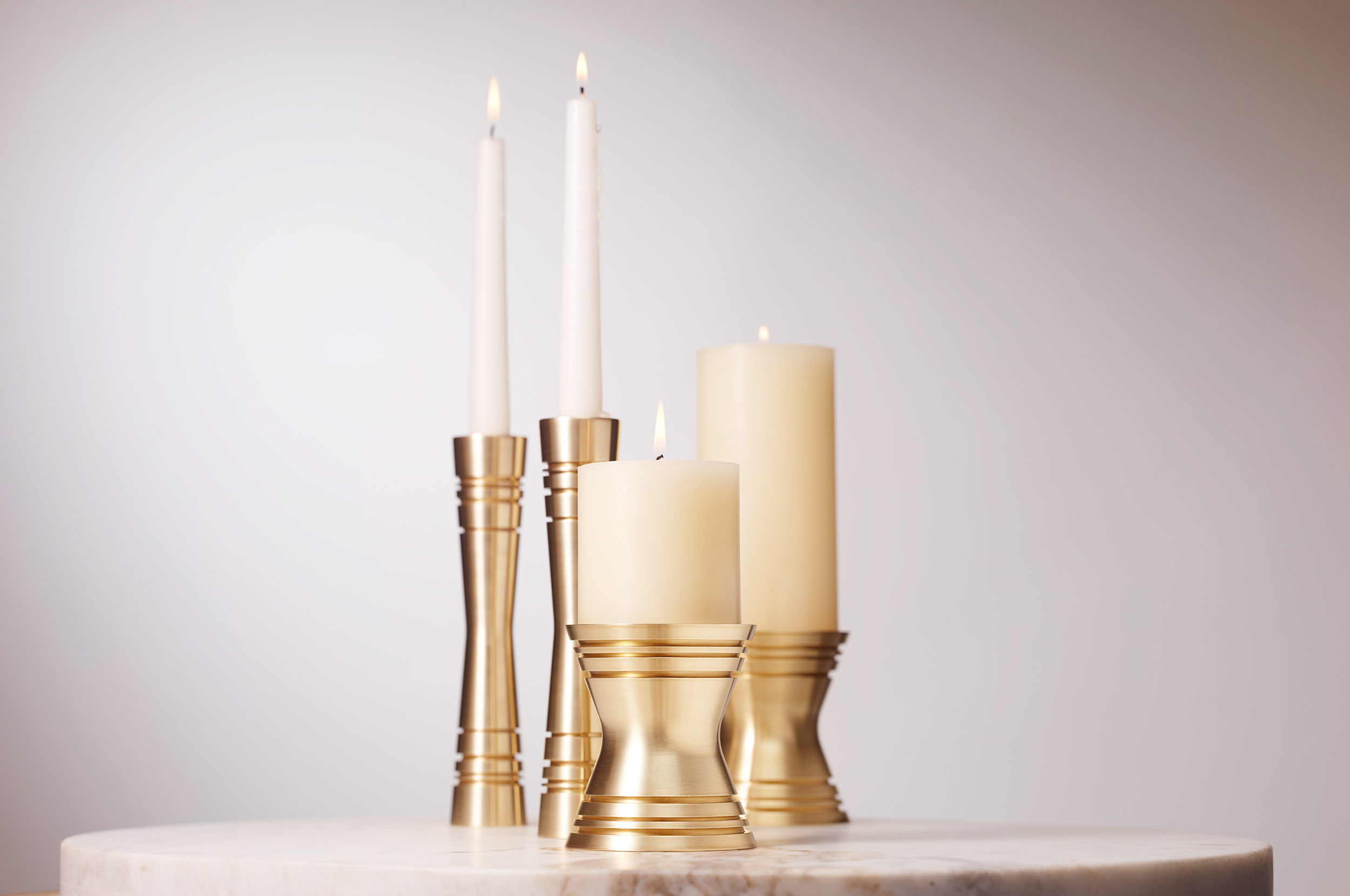 _170106 Post and Gleam table top Candle Holders Tall Short Quad COMP Ob FL LR.jpg