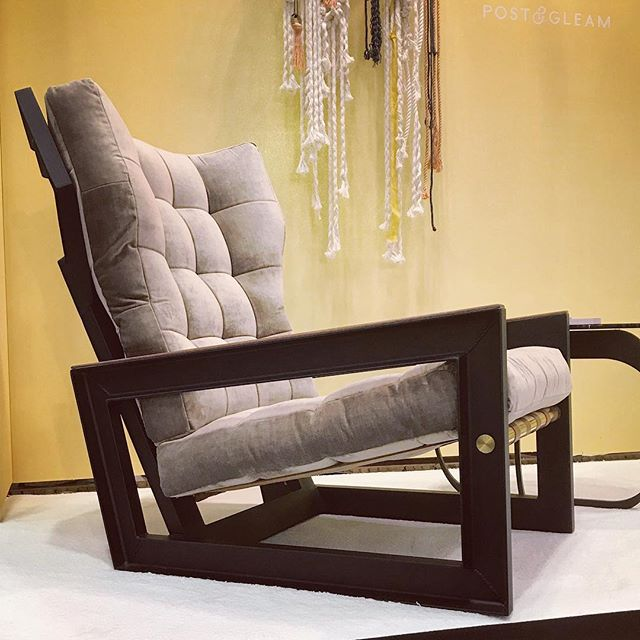 Come, sit. This chair is damn comfortable. Booth 2265 @icff_nyc  Open until 5pm tonight !!!! #icff #nycxdesign #i🖤ny #design #designer #artist #brass #candleholder #industrialdesign #madeinusa #madeinus #designlove #inspo #betterlivingthroughgooddesign #interiordesign #supportlocal #designmilk #custom #bunsen #walnut #casegoods #furnituredesign #modernfurniture #contemporaryfurniture  #icffshowstopper