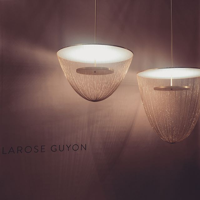 In love. ✨ stunning beauties by @laroseguyon  #icff #icff #supportlocal #icffshowstopper #icff2018 #getinmyhouse #desert #sandinmyshoes #designer #contemporarydesign #contemporaryfurniture #artist #sculpture #lighting #lamps #inspo #dreamy #lightingdesign #postandgleam