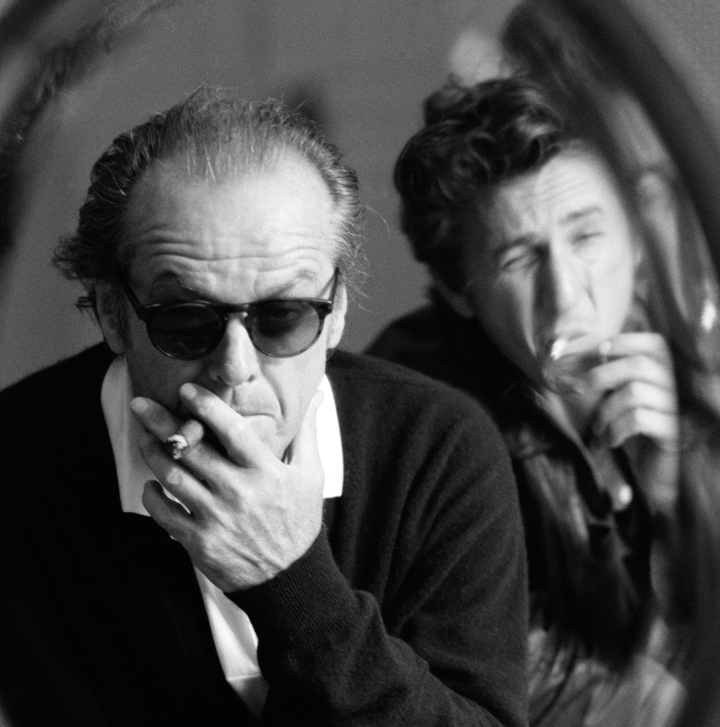 1995 Jack Nicholson and Sean Penn at the release of Penn's 'Crossing Guard'