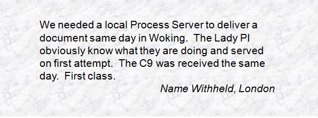 Process Server Inter Agency