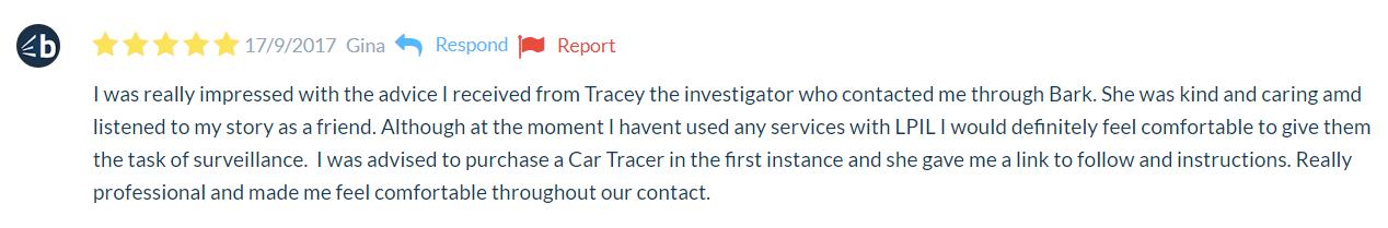 5 Star Review Bark Private Investigators Surrey