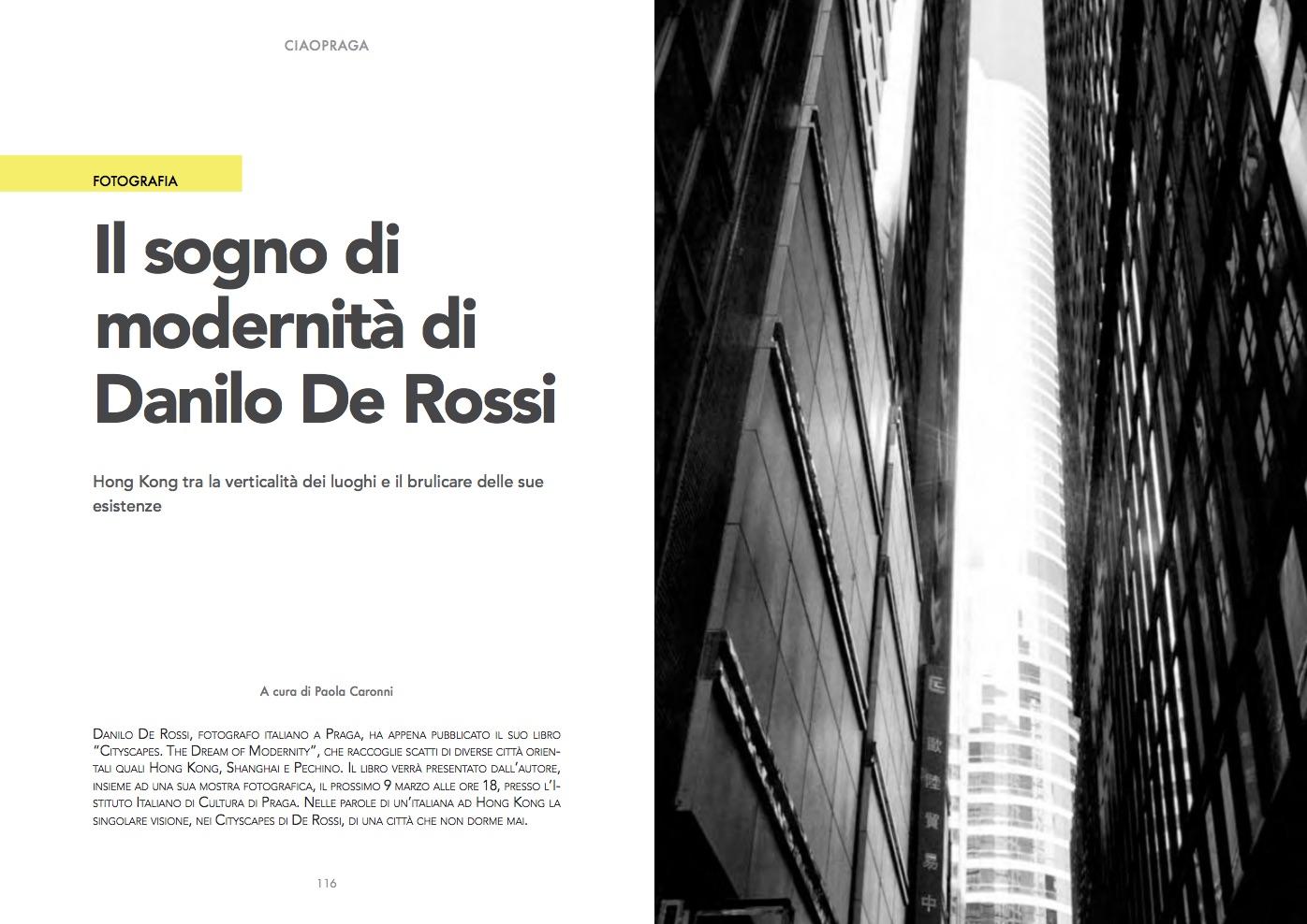Ciao Praga Magazine Volume 4 -  Article by Paola Caronni -  read in full (in Italian)