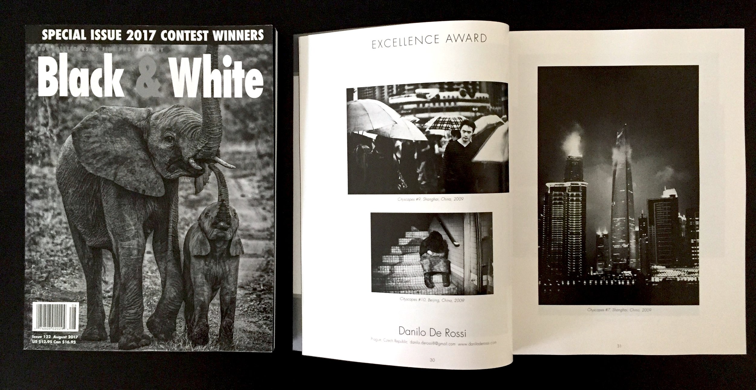 Excellence Award for Cityscapes -  Black and White Magazine, Issue 122