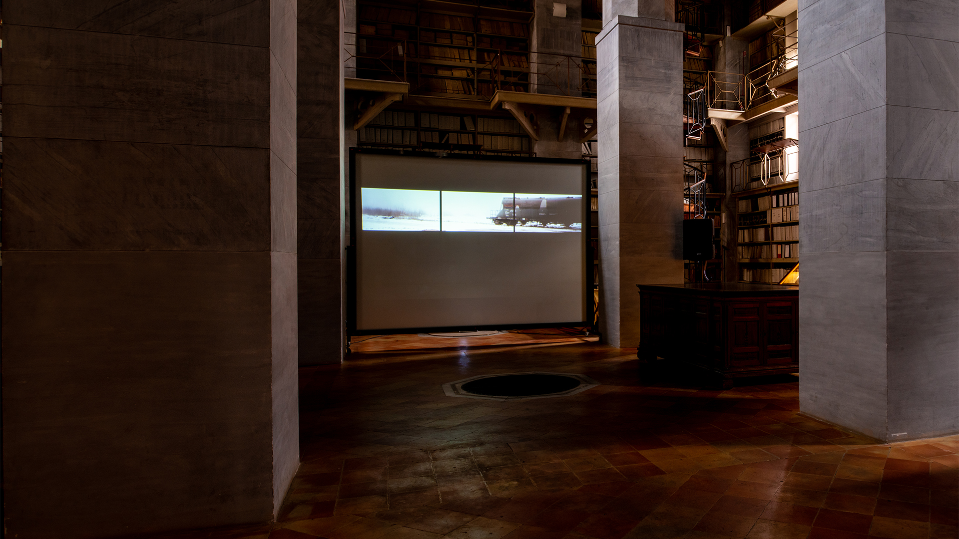 IRON DUST - Reflections installed at the Historical Archive in Palermo, 2018