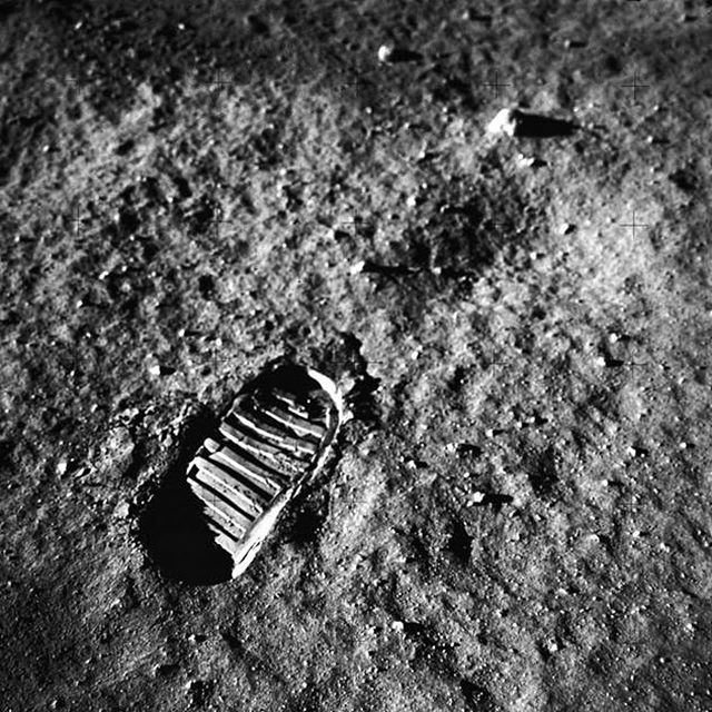"""BOOT PRINTS ON THE MOON Neil Armstrong & Buzz Aldrin left their boot prints in the moon exactly 50 years ago today.  As Neil said, """"That's one small step for man, One Giant Leap for mankind."""" May next boot print be a huge step for women and any one else who wishes to journey into space.  Credit: @NASA . . . . #apollo50 #apollo11 #apollo #moon #moonlanding #neilarmstrong #buzzaldrin #michaelcollins #aliens #outerspace #astronaut #nasa #astronomy #solarsystem #space #science #research #rocketscience #rocket #aerospaceengineering #aerospace #explore #universe #cosmos #engineering #tech #technology"""