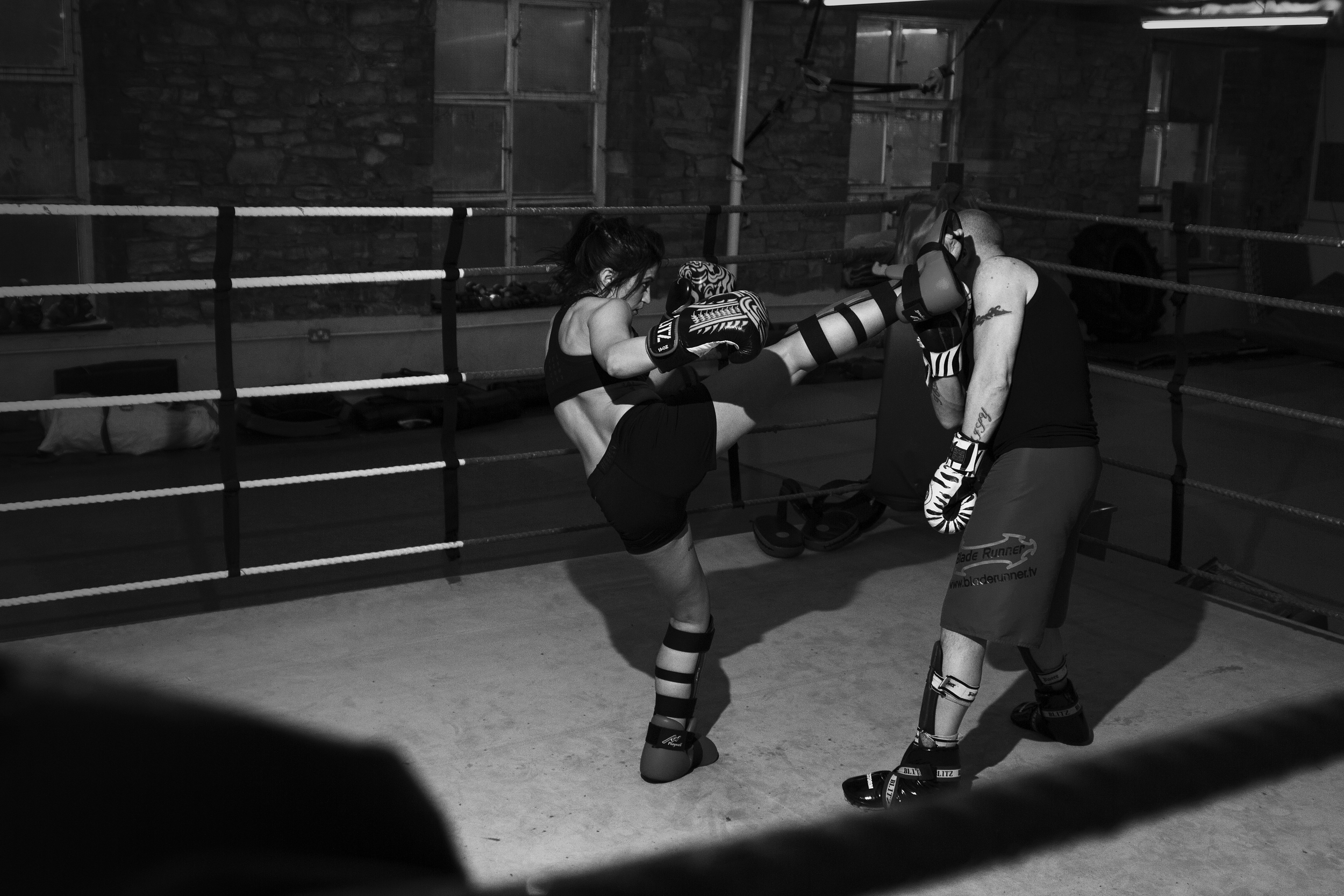 Kickboxing Sparring Fight