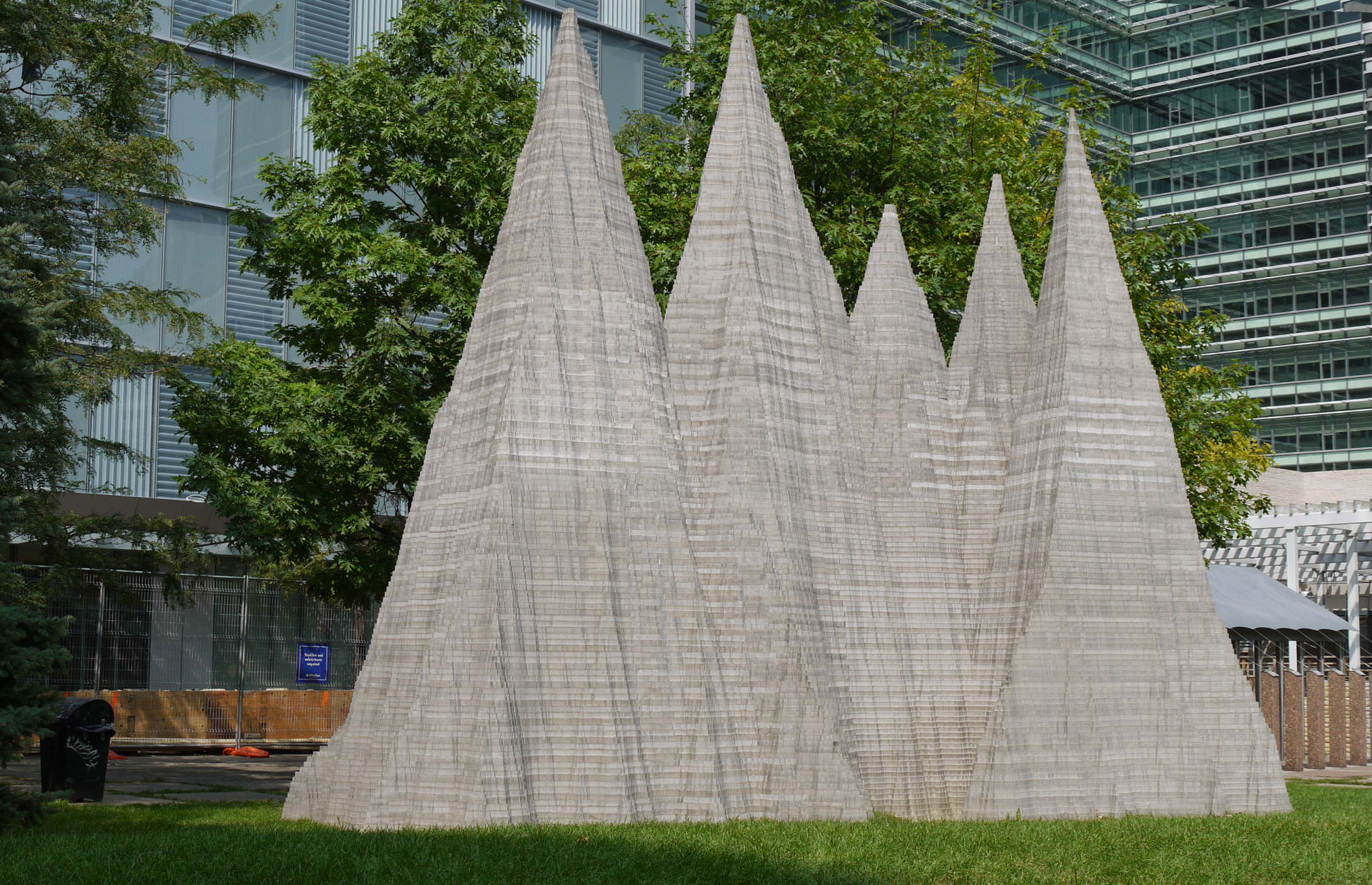 Mountain   by Anish Kapoor, Simcoe Park, Toronto, 1995. Photo courtesy of Public Art Management