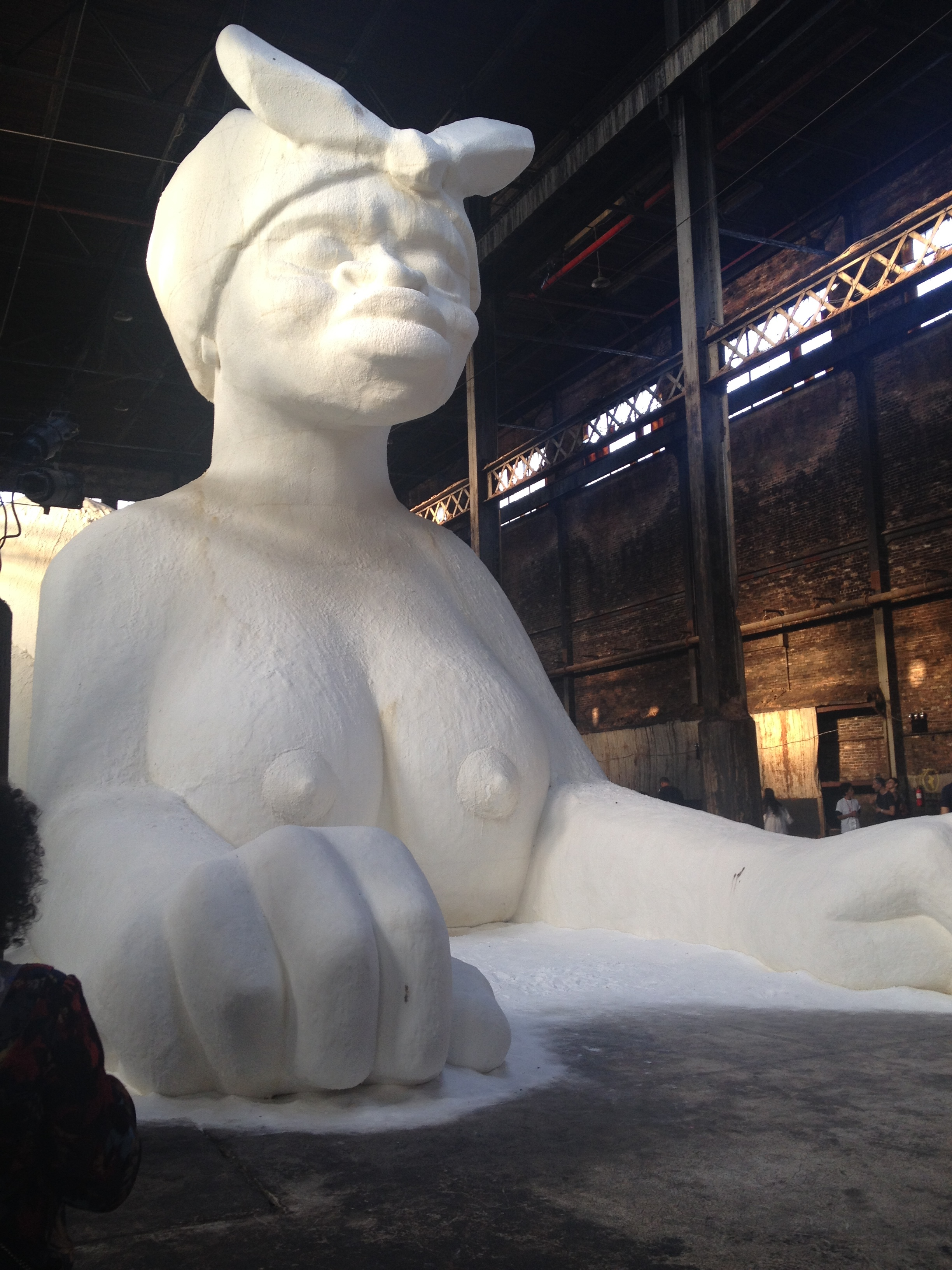 A Subtlety   by Kara Walker, Domino Sugar Factory, Brooklyn, 2014. Presented by Creative Time. Photograph by inga.