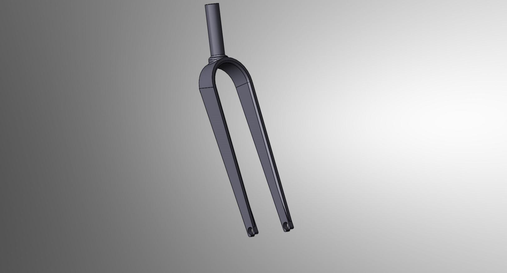 Road Bike Fork CAD Model