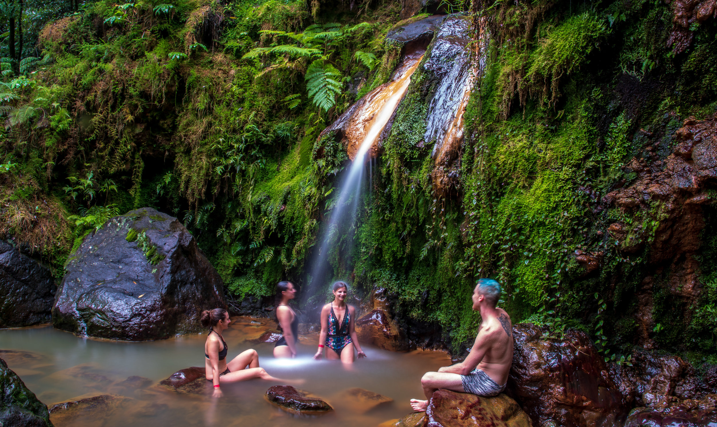 Thermal basin, Caldeira Velha, Sao Miguel, Azores, Portugal Photo by Josh Alves