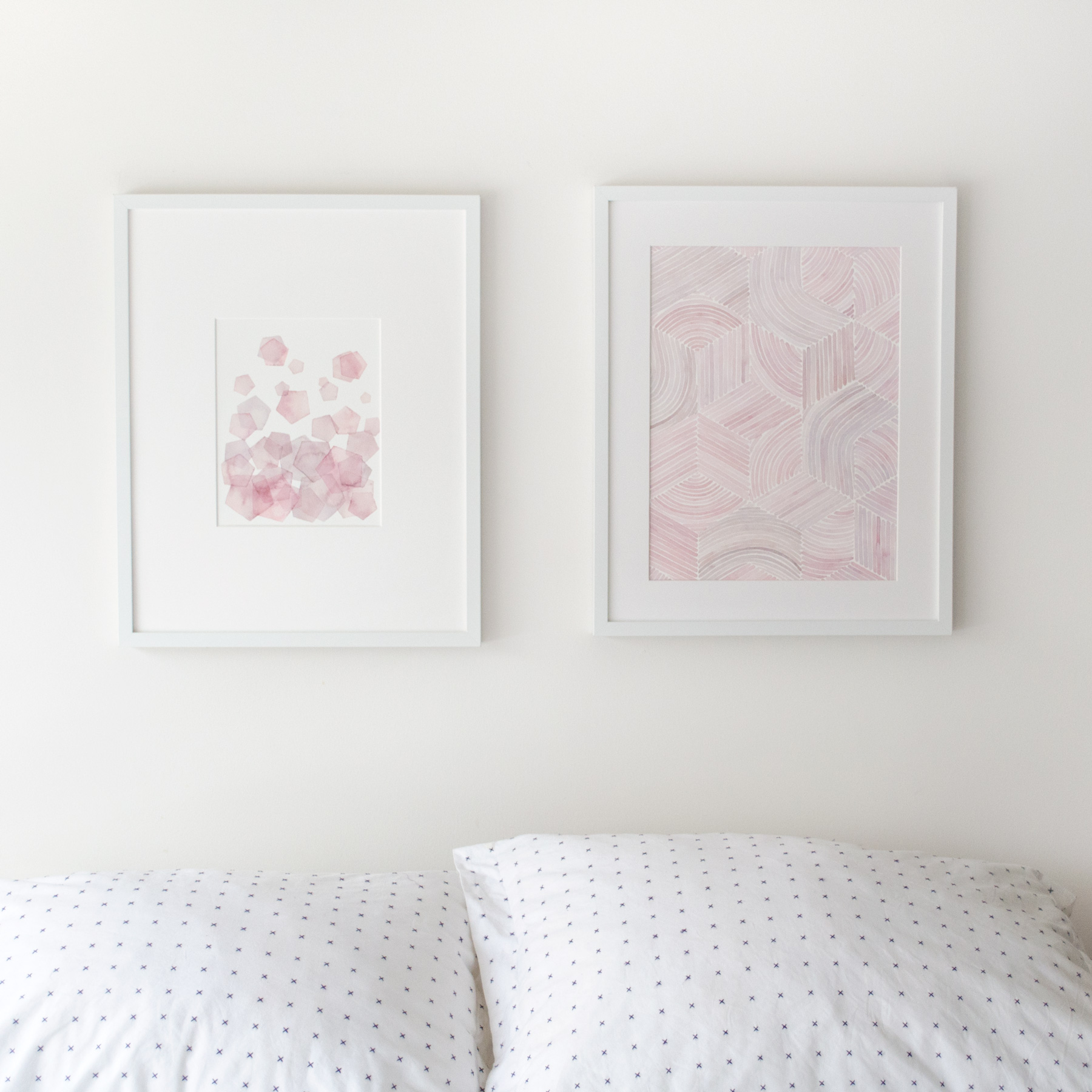 FLOAT IN PINK / GATHERED AND ARRANGED 1 - Jen Lashek - Watercolour