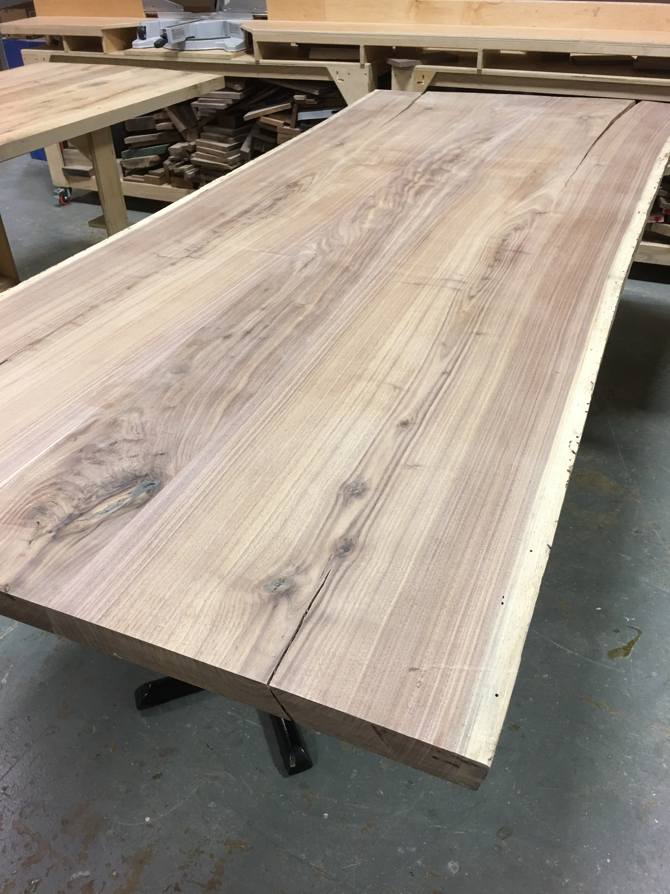 Reclaimed Live Edge Walnut Table Top