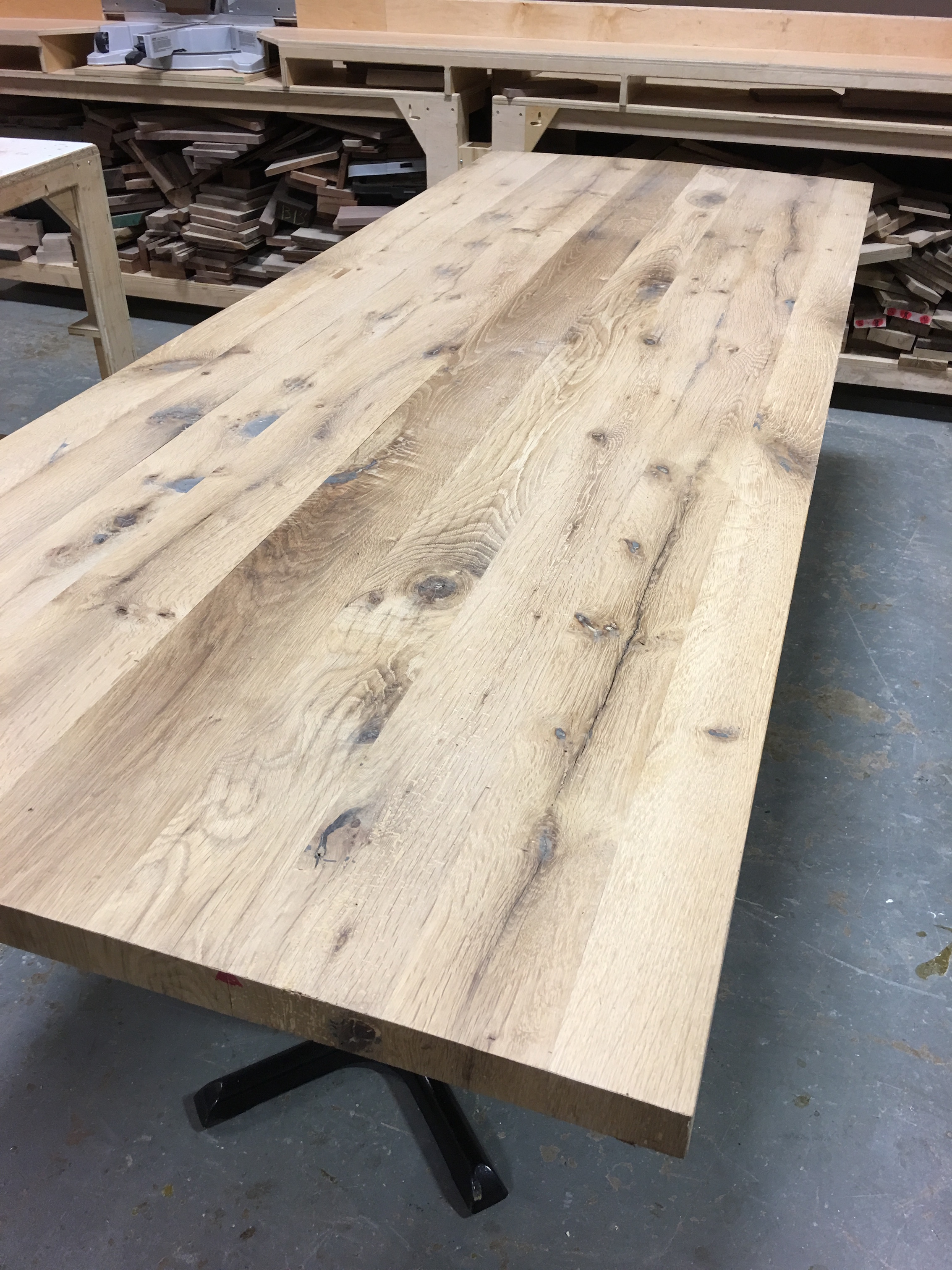 newest 19f68 02c32 Reclaimed Solid White Oak Table Top — Kole Made