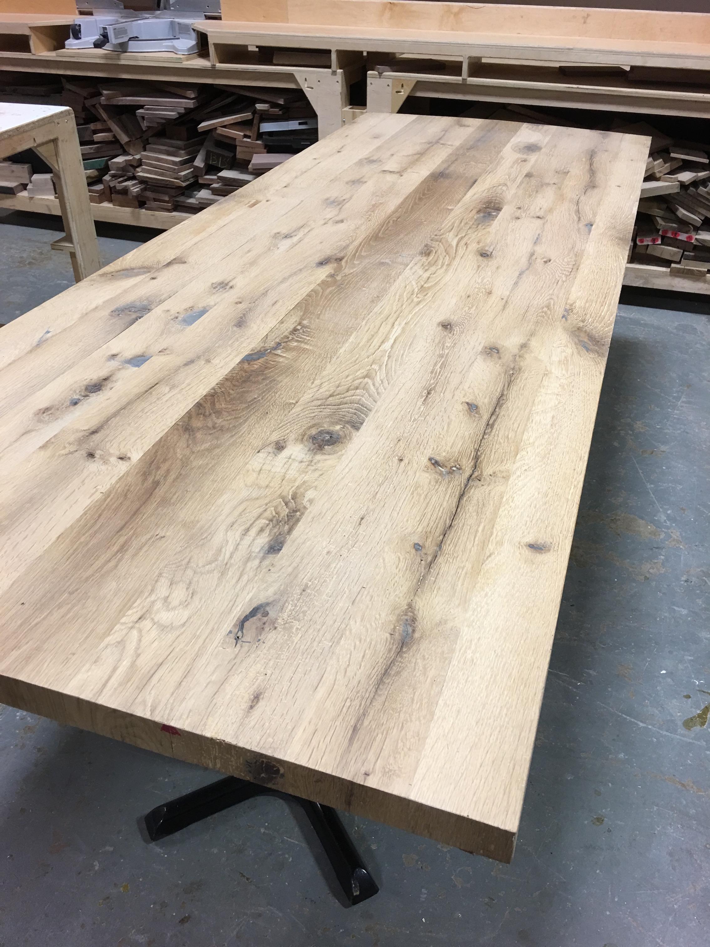 Kole Made Reclaimed Solid White Oak Table Top