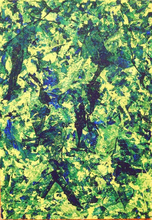 "Moss Skin II/Acrylic on Canvas 24""x36""/2010  Available through Etsy $480"